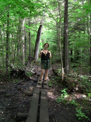 Enjoy the protective wood plank trail while you can
