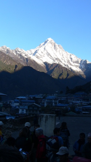 First breath taking mountain view from Lukla