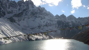 Gokyo lake in the evening