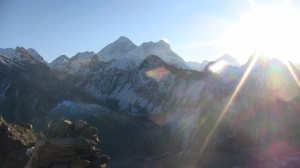 Everest and the sunshine