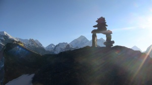Everest and an Inukshuk