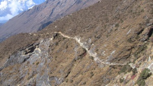 Looking back on trail from Phorche to Panboche