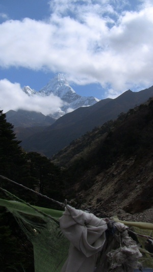 Ama Dablam in the distance... goodbye