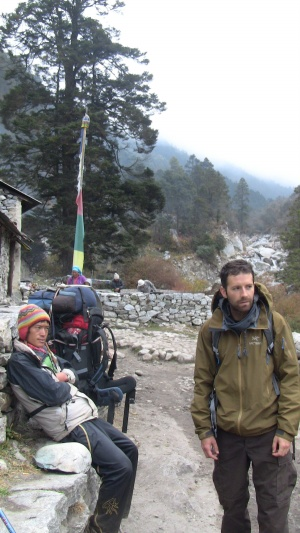 Gaurab and Peter on the trail to Namche