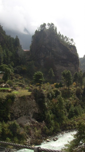 Beautiful rock outcrop near Lukla