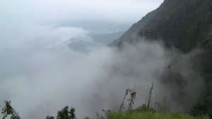 Cloud cover outside of Lukla