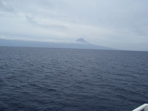 First view of Pico from ferry