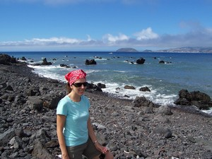 Exploring the shoreline in Madalena